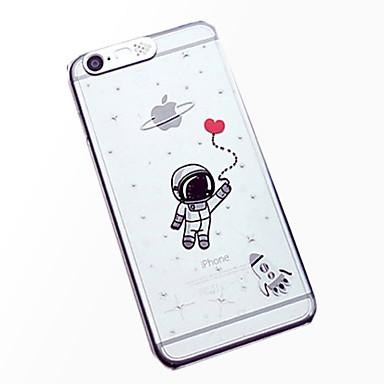 padrão astronauta luz do flash sentido lcd caso capa Voltar para o iPhone 6 / 6s