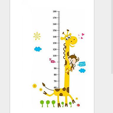 하이트 스티커 - 동물의 벽 스티커 동물 거실 / 침실 / 보이 룸 / 물 세탁 가능 / 이동가능 / 재부착가능
