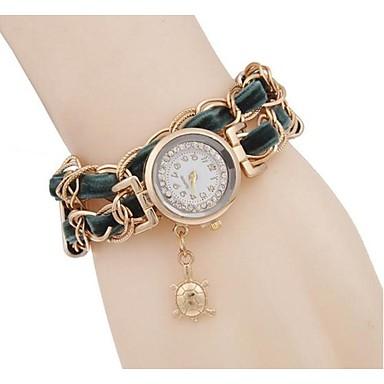 여성용 모조 다이아몬드 시계 팔찌 시계 패션 시계 석영 캐쥬얼 시계 합금 밴드 멋진 블랙 화이트 레드 그린 핑크 노란색