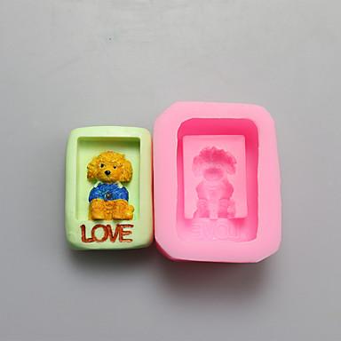 kutya alakú csokoládé szilikon öntőforma, sütemény formák, szappan öntőformák, dekorációs szerszám bakeware