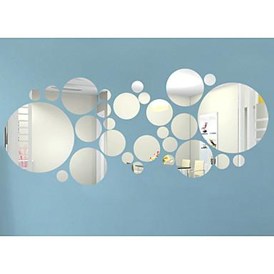 3D Naklejki Naklejki ścienne: lustro Dekoracyjne naklejki ścienne, Winyl Dekoracja domowa Naklejka Ściana