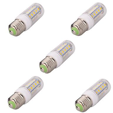 e26 / e27 led corn világítás t 36 smd 5730 580lm meleg fehér hideg fehér 2700-6500k dekoratív ac 220-240v