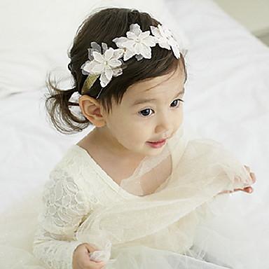 koreai gyerekek virág csipke szövet fejpántok