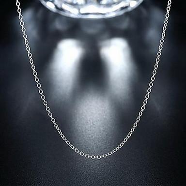olcso Sterling ezüst nyakláncok-Uniszex Nyakláncok Láncok Olcsó Kecses hölgyek Személyre szabott Divat Ezüst Ezüst Nyakláncok Ékszerek Kompatibilitás Esküvő Parti Napi Hétköznapi Sport Munka
