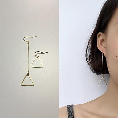 여성 드랍 귀걸이 패션 불일치 합금 Geometric Shape Triangle Shape 보석류 제품 결혼식 일상 캐쥬얼