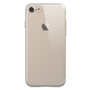 케이스 제품 Apple iPhone X iPhone 8 iPhone 7 Plus iPhone 7 투명 뒷면 커버 한 색상 소프트 TPU 용 iPhone X iPhone 8 Plus iPhone 8 iPhone 7 Plus iPhone 7