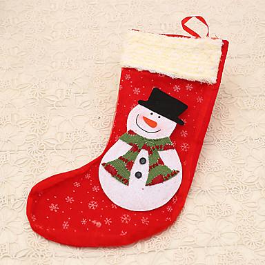 아이 선물 1 개 크리스마스 스타킹 눈사람 장식 크리스마스 사탕 가방