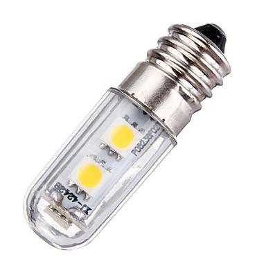 1pc 1w mini e14 șurub led led 7 smd 5050 220v ac pentru frigider mașină cuptor alb cald alb