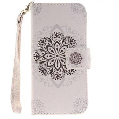 iphone7 6splus 6plus 기가 6 SE 5 초 5 만돌린 만다라 흰 꽃 PU 가죽