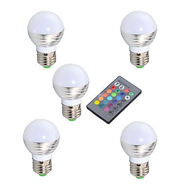 YWXLIGHT® 3W 600 lm E14 GU10 E26/E27 LED 글로브 전구 A50 1 LED가 고성능 LED 적외선 센서 밝기조절가능 장식 리모컨 작동 RGB AC 220-240V