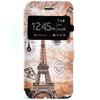 Mert iPhone 7 tok / iPhone 7 Plus tok / iPhone 6 tok Kártyatartó / Állvánnyal Case Teljes védelem Case Eiffel torony Kemény Műbőr mert