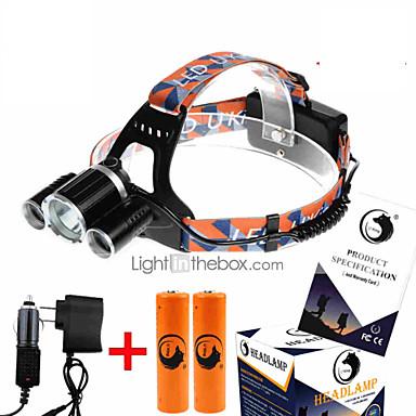 U'King ZQ-X823 Fejlámpák Menetfény LED 4500 lm 4.0 Mód Cree XM-L T6 akkukkal és töltőkkel High Power Könnyű Kompakt méret