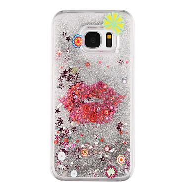 제품 Samsung Galaxy S7 Edge 케이스 커버 플로잉 리퀴드 투명 패턴 뒷면 커버 케이스 섹시 레이디 하드 PC 용 Samsung Galaxy S7 edge S7