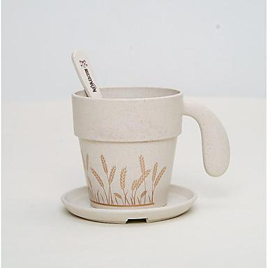 Az új egészségügyi kreatív csésze kávéscsésze egy kanál a környezetvédelem