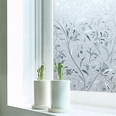 Art Deco Nykyaikainen Ikkunakalvo, PVC/Vinyl materiaali ikkuna Decoration Ruokailuhuone Makuuhuone Office Kids Room Olohuone Bath Room