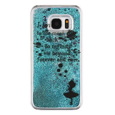 제품 Samsung Galaxy S7 Edge 케이스 커버 플로잉 리퀴드 투명 패턴 뒷면 커버 케이스 단어 / 문구 하드 PC 용 Samsung Galaxy S7 edge S7