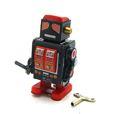 교육용 장난감 태엽 장난감 광장 전사 로봇 메탈