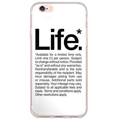 용 아이폰6케이스 아이폰6플러스 케이스 케이스 커버 울트라 씬 반투명 뒷면 커버 케이스 단어 / 문구 소프트 TPU 용 AppleiPhone 6s Plus iPhone 6 Plus iPhone 6s 아이폰 6 iPhone SE/5s iPhone
