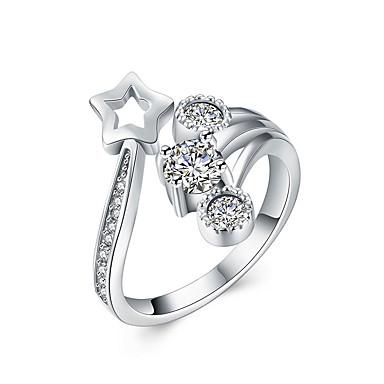 Gyűrűk Sexy / Divat Esküvő / Parti / Napi / Hétköznapi Ékszerek Ezüst Női Vallomás gyűrűk 1db,Állítható Ezüst
