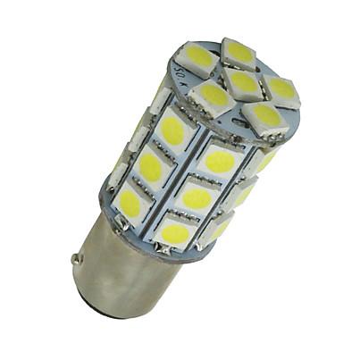 10 stuks super witte ba15d 27-SMD 5050 LED-lampen marine boot 1142 1178 1130
