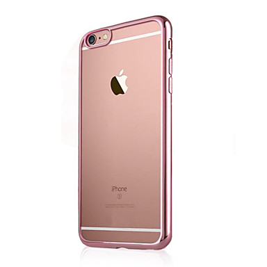 6 7 unita Transparente iPhone Per 04820165 per Plus iPhone iPhone Placcato 6s Per retro iPhone TPU 7 Tinta Apple Plus 6 Custodia Plus iPhone Morbido q4TwAnY784
