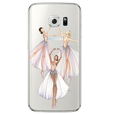 용 Samsung Galaxy S7 Edge 투명 / 패턴 케이스 뒷면 커버 케이스 섹시 레이디 소프트 TPU Samsung S7 edge / S7 / S6 edge plus / S6 edge / S6 / S5 / S4