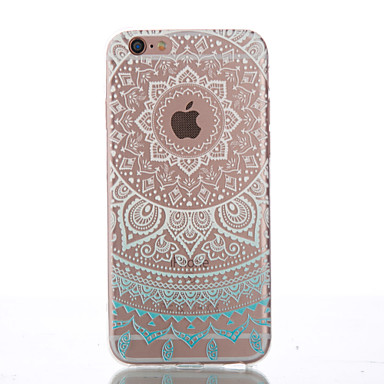 Coque Pour Apple iPhone 6 iPhone 6 Plus Autre Coque Mandala Flexible TPU pour iPhone 6s Plus iPhone 6s iPhone 6 Plus iPhone 6 iPhone SE /