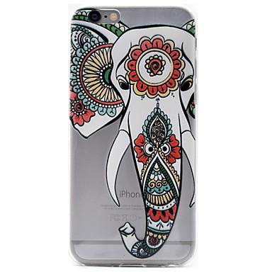용 아이폰6케이스 / 아이폰6플러스 케이스 패턴 케이스 뒷면 커버 케이스 코끼리 소프트 TPU Apple 아이폰 7 플러스 / 아이폰 (7) / iPhone 6s Plus/6 Plus / iPhone 6s/6