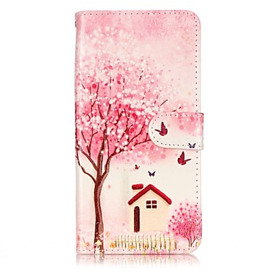 용 아이폰7케이스 / 아이폰7플러스 케이스 / 아이폰6케이스 지갑 / 카드 홀더 / 플립 케이스 풀 바디 케이스 나무 하드 인조 가죽 Apple 아이폰 7 플러스 / 아이폰 (7)