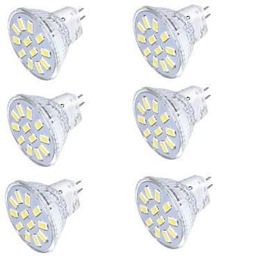3 GU4(MR11) LED szpotlámpák MR11 12 SMD 5733 250 lm Meleg fehér / Hideg fehér Dekoratív 9-30 V 1 db.
