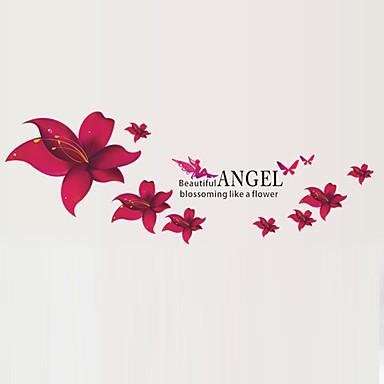 Wzory roślinne Naklejki Naklejki ścienne lotnicze Dekoracyjne naklejki ścienne, PVC Dekoracja domowa Naklejka Ściana