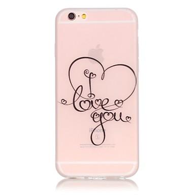 용 아이폰6케이스 / 아이폰6플러스 케이스 야광 케이스 뒷면 커버 케이스 단어 / 문구 소프트 TPU Apple iPhone 6s Plus/6 Plus / iPhone 6s/6 / iPhone SE/5s/5