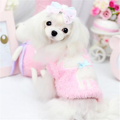 강아지 점프 수트 강아지 의류 캐쥬얼/데일리 솔리드 동물 그린 핑크