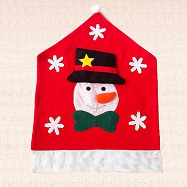 1 개 눈송이 의자 모자 눈사람 크리스마스 의자 커버 장식 부엌 장식