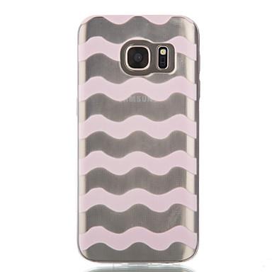Mert Samsung Galaxy S7 Edge Átlátszó / Minta Case Hátlap Case Vonalak / hullámok Puha TPU Samsung S7 edge / S7 / S6 edge / S6 / S5