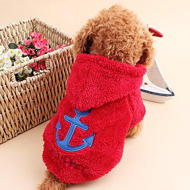 Cica Kutya Kapucnis felsőrész Kutyaruházat Tengerész Fehér Szürke Rózsa Piros Kék Kordbársony Jelmez Háziállatok számára Férfi Női Bájos