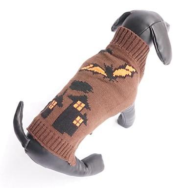 고양이 강아지 스웨터 강아지 의류 뱀파이어 커피 면 코스츔 애완 동물 남성용 여성용 할로윈