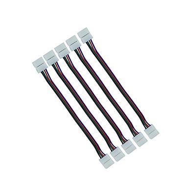 5db 10mm 4 pin RGB csatlakozó vezeték dupla jack vezeték csatlakoztatására 5050 RGB LED szalag a szalag