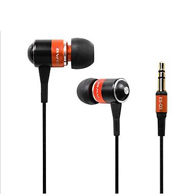 AWEI Q3 W uchu Przewodowy / a Słuchawki Aluminum Alloy Telefon komórkowy Słuchawka Izolacja akustyczna Zestaw słuchawkowy