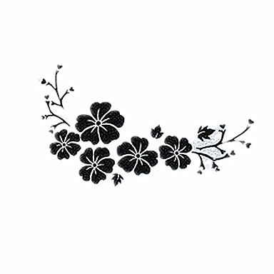 hibiskusa kwiaty naklejki samochodowe, spersonalizowane ozdobny pokrowiec