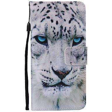 Mert Samsung Galaxy Note7 Kártyatartó / Pénztárca / Állvánnyal / Flip / Minta Case Teljes védelem Case Állat Puha Műbőr Samsung Note 7