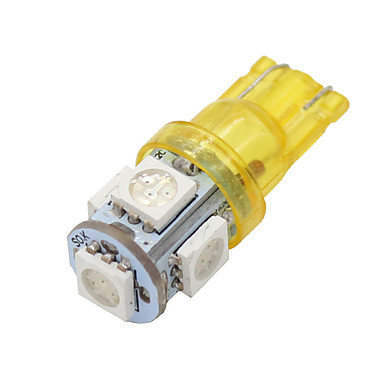20x super φωτεινό πορτοκαλί κίτρινο T10 / 194/168/2825 5 οδήγησε φώτα λαμπτήρες 5050 SMD