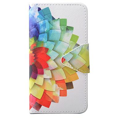 Kılıf Na Apple iPhone 6 iPhone 7 Etui na karty Portfel Z podpórką Flip Wzór Wytłaczany wzór Pełne etui Kwiaty Twarde Skóra PU na iPhone 7