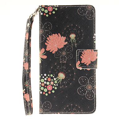 Kılıf Na Samsung Galaxy Samsung Galaxy Etui Etui na karty Portfel Flip Wzór Pełne etui Kwiaty Twarde Skóra PU na J5 (2016) J5 J3 (2016)