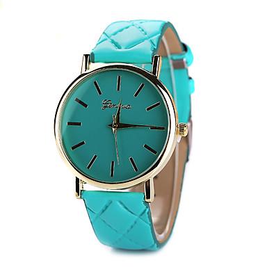 여성용 패션 시계 석영 캐쥬얼 시계 가죽 밴드 블랙 화이트 블루 레드 브라운 핑크