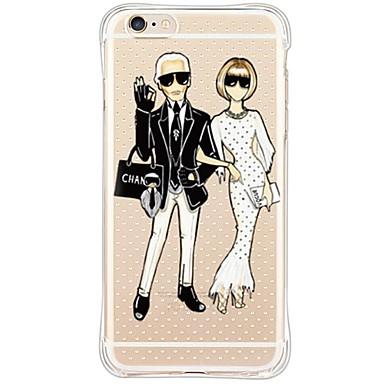 용 아이폰6케이스 / 아이폰6플러스 케이스 방수 / 충격방지 / 방진 / 투명 케이스 뒷면 커버 케이스 카툰 소프트 TPU Apple iPhone 6s Plus/6 Plus / iPhone 6s/6 / iPhone SE/5s/5
