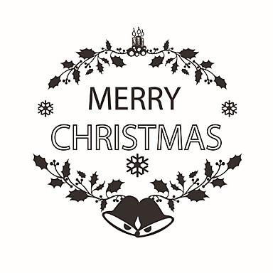 Karácsony / Mondások & Idézetek / Alakzatok Falimatrica Repülőgép matricák Dekoratív falmatricák,PVC AnyagMosható / Eltávolítható /