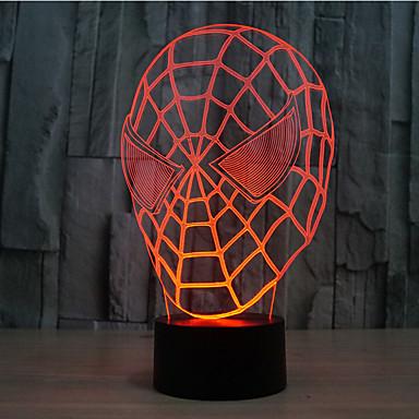 spider-man dotykowy przyciemnianie 3d led night light 7 kolorowa dekoracja atmosfera lampa nowość oświetlenie światło