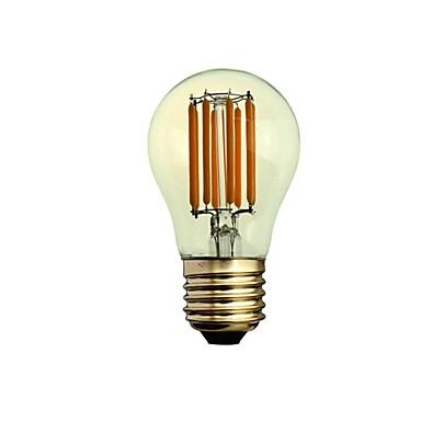 1 개 300-450 lm E26/E27 LED필라멘트 전구 A50 8 LED가 COB 밝기조절가능 장식 따뜻한 화이트 AC 220-240V