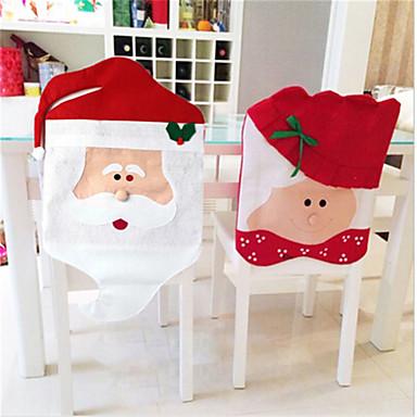 한 쌍의 크리스마스 의자 산타 클로스 새해 장식 크리스마스 장식품 홈 장식 모자 메리 판매를 커버